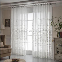 European style embroidered luxury drapes sheer window curtains