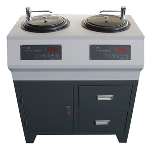LAP-2CV double disc double control cabinet type metallographic grinding and polishing machine