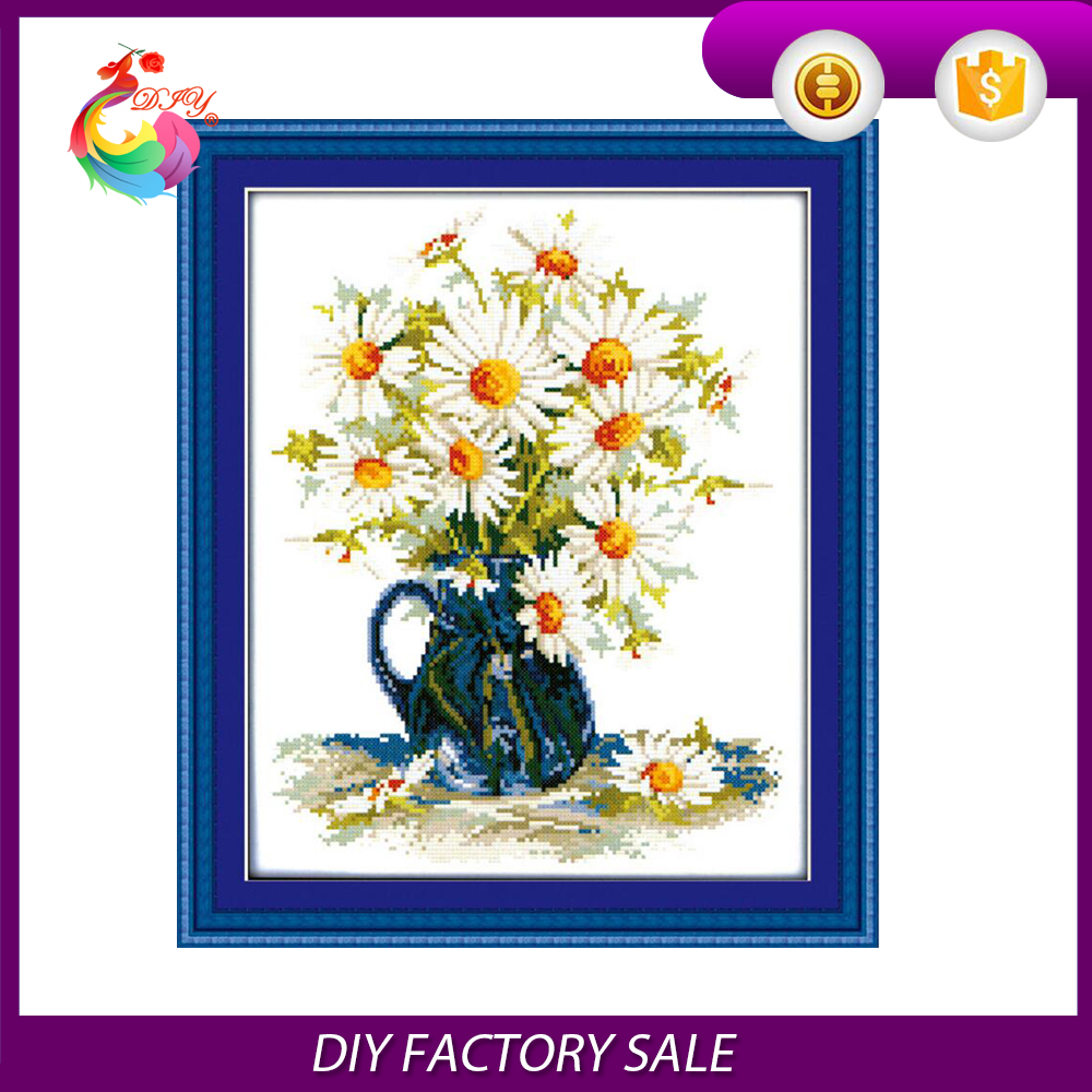 free shipping Factory supply decorative textile and fabric crafts 3d cross stitch 36*45cm