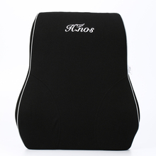 Promotional Custom Polyester Memory Foam Back Pain Relief Car Seat Mesh Lumbar Support Cushion With Strap