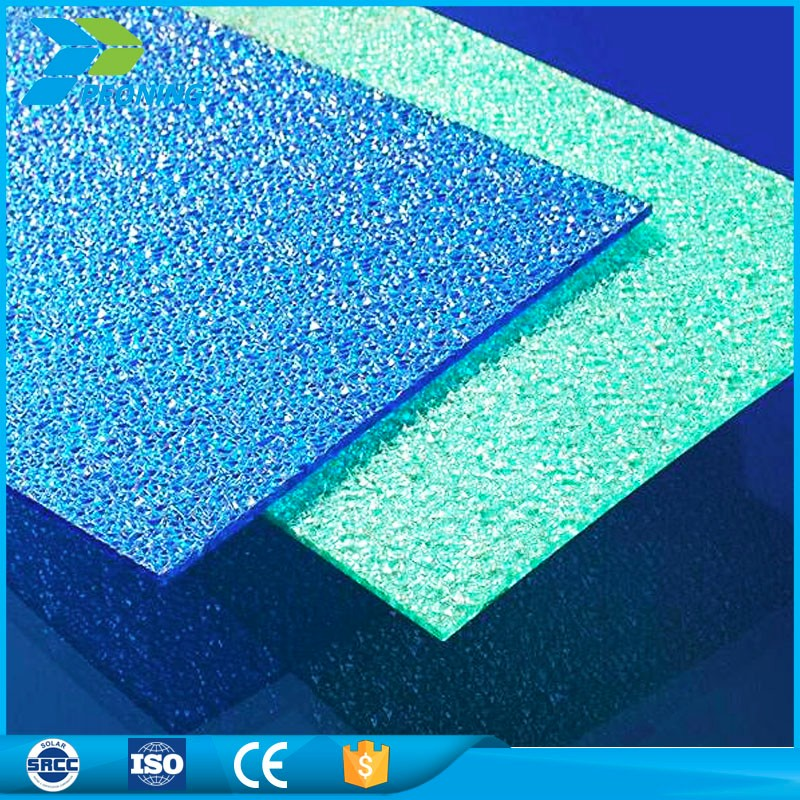 customized color polycarbonate embossed sheet diamond pc sheet