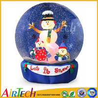 hot sale snow globe, christmas inflatable, inflatable christmas decoration for sale