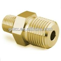 ISO9001:2008 high quality industrial copper tube compression fittings,threaded male reducing hex nipple,tube turn pipe fittings