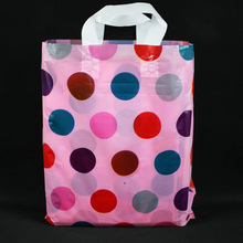 2017 100% raw material Customer design luxury shopping plastic bags for clothing