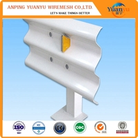 4320mm Q235 painting metal beam traffic crash barrier