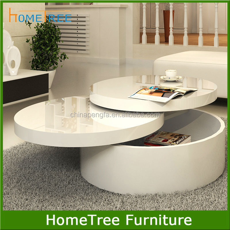New design round wooden lift top coffee table