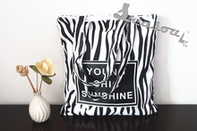 Vintage zebra leopard full printed canvas tote bag