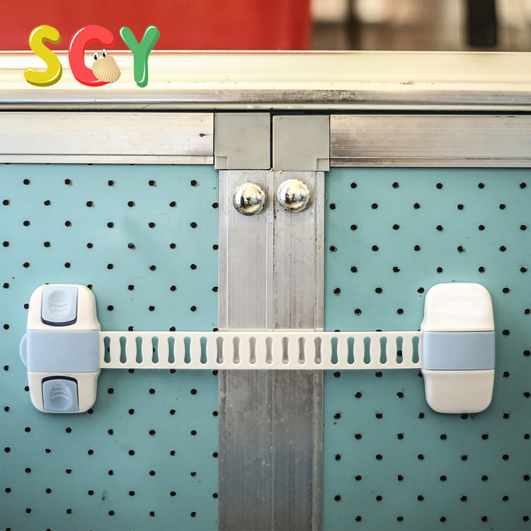 SCY Baby Safety Cabinet Locks Double Insurance Adjustable Child Safety Latch for Cabinet,Refrigerator,Drawer,Toilet,etc