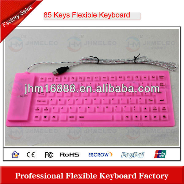 85 keys flexible silicon microsoft mini keyboard