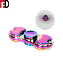 New model fidget spinner metal rainbow, hand spinner toys metal whole sale ce