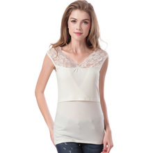 Hot Underwaist Maternity Breastfeeding Clothes Nursing Tops Under Shirt Clothes for Pregnant Women Mat Underwear Lace Tank Tops