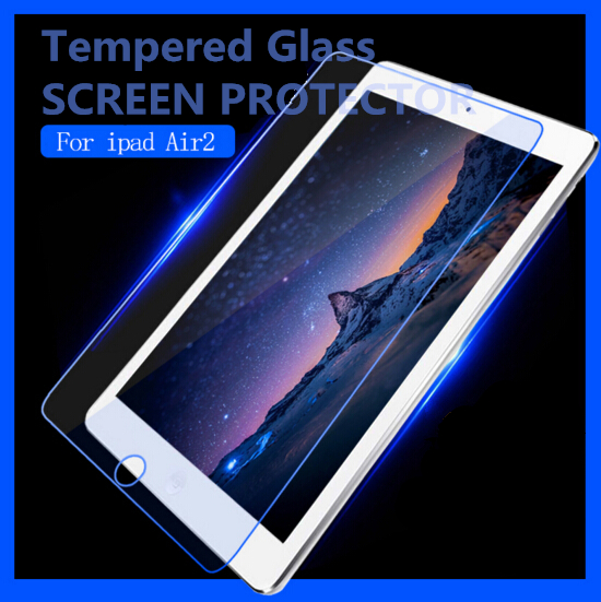 2015 new products full cover tempered glass for iPad 2 3 4 Tempered Glass Screen Protector 2.5D Round Edge 9H Hardness