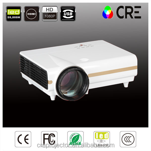 Best selling products full hd projector ,VGA,AV,3RCA,USB,Audio-out 3500 lumens led tv projector office equipment