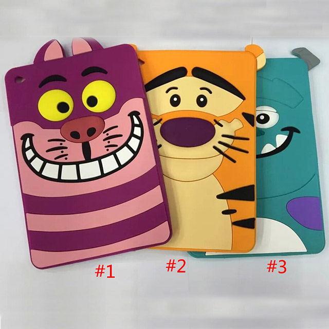 Cute Cartoon Silicone Soft Back Case Cover For iPad Mini 4