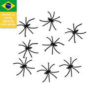 Drop shipping from Brazil 2015 like metal spider decoration halloween spider toy for party packing