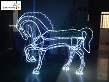 Christmas decoration led lights not expensive decorative outfit horse