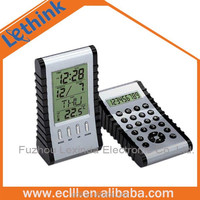 Double side electric calendar clock with calculator