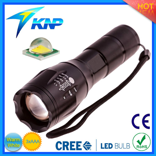 Aluminum Alloy Original CREE T6 LED Zoomable Strong Light Flashlight