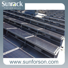 solar panel support for roof and ground
