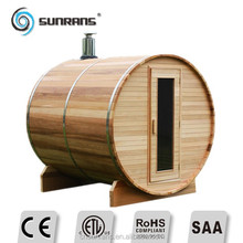 Sunrans hot sale high quality and low price guangzhou china wooden Cedar Barrel Sauna