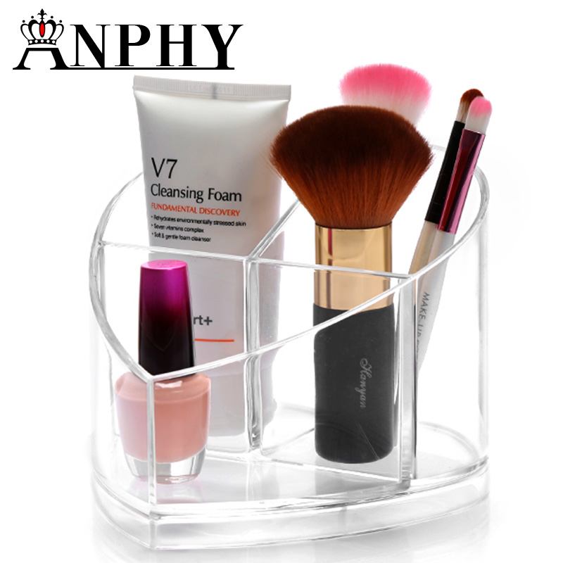 ANPHY <strong>C114</strong> Heart Shaped Acrylic Cosmetic Organizer Makeup Brushes Holder
