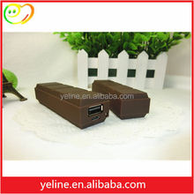 Innovative Style Chocolate Design power pack/funny usb charger