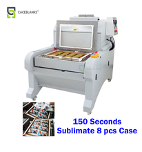 D8 mass producing 3d vacuum film sublimation machine, 8 pcs printing every 2.5 minutes, A2 size sublimation machine