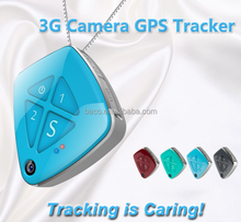 Newest fall alarm micro 3G personal mini GPS tracker with camera for kids Alzheimer's
