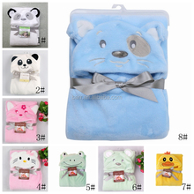 wholesale animal design flannel baby bath blanket baby product