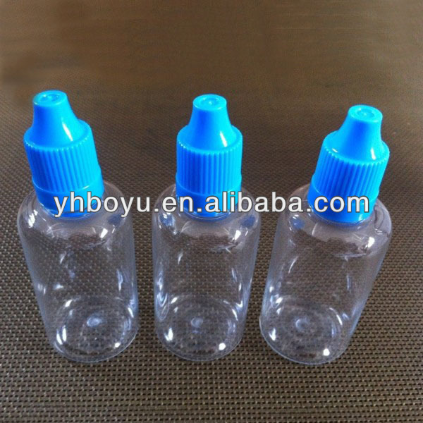 competitive price 50ml PE pure liquid nicotine bottles e cigarette liquid bottles with short thin tip and screw caps