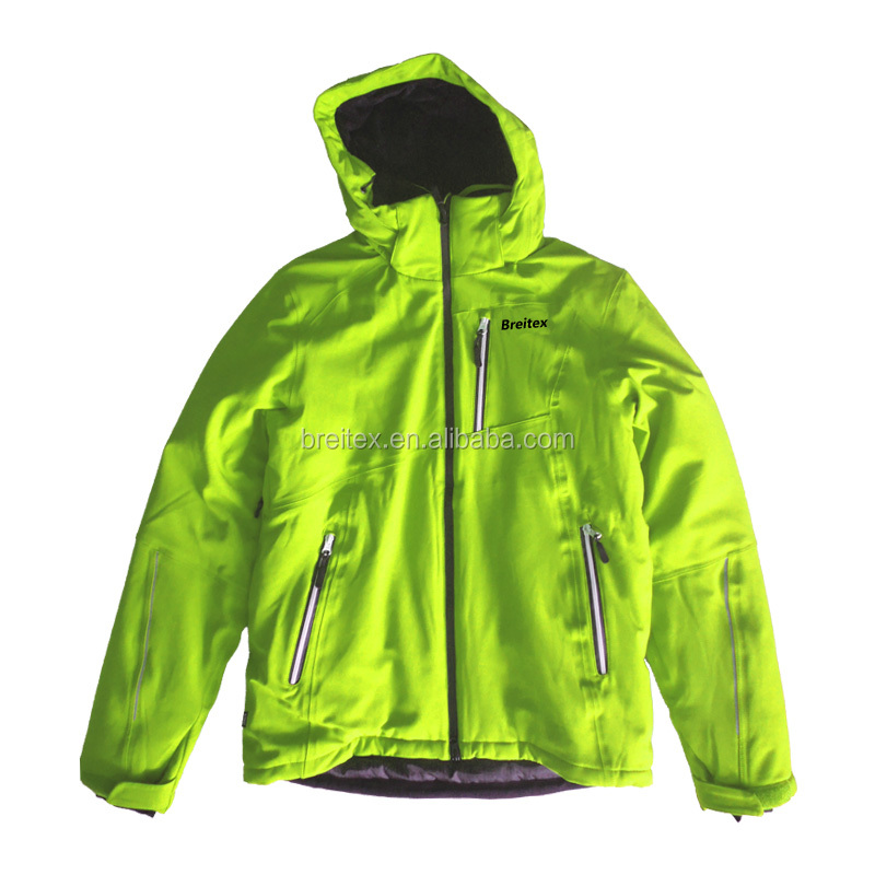 High quality waterproof ski snow wear men colorful ski jacket with hood