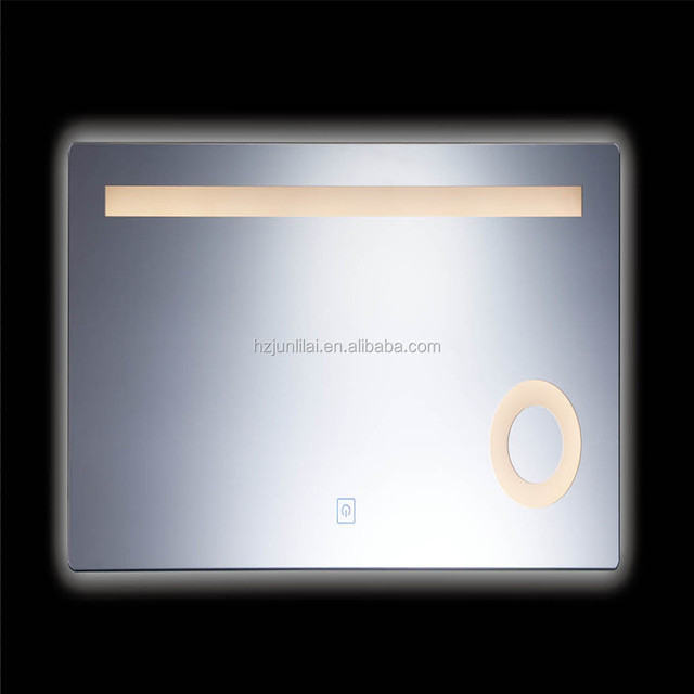 LED light with Clock mirror high-tech simple mirrors amplifier bath mirrors