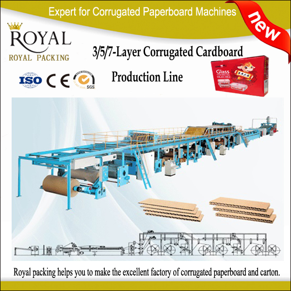 5 layer fully automatic corrugated box machine 5 layer corrugated kutu cardboard production line