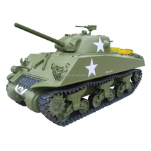 New Hot RC Toys 2.4G 6ch Gas powered RC Tank RTR 1/6 M4A3 Sherman Tank