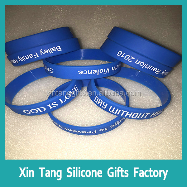 Colorful sillicon wristbands customized personalized silicone bracelet