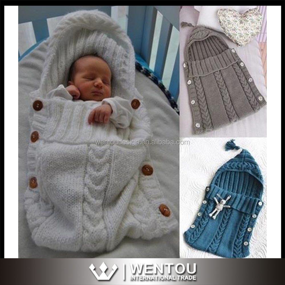 Hot Sell Cute Baby Knit Sleeping Bag Wholesale