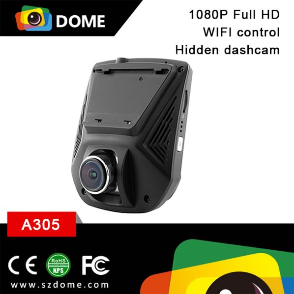new product super mini size 170 degree wide angle Wifi connectivity NTK96655 chip WIFI dashcam