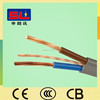 BS6004 6242Y PVC Insulated Copper Electrical Wire Flexible Flat Cable