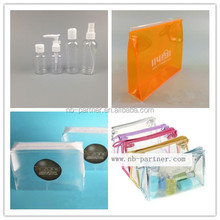 free samples 30ml/50ml/60ml plastic PET empty travel kit/hotel cosmetic pump bottles set with PVC bag