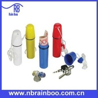 plastic container with lanyard for travel and swimming
