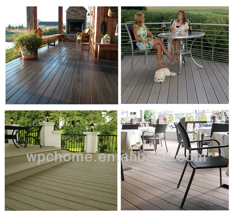 waterproof and eco-friendly wpc decking board