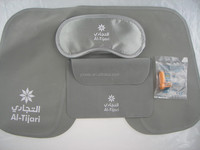 Travel pillow set with eye mask
