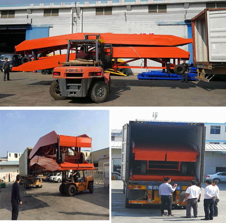 2014 Hot sale - 10 ton hydraulic stationary ramp for horse trailer/container unloading equipment
