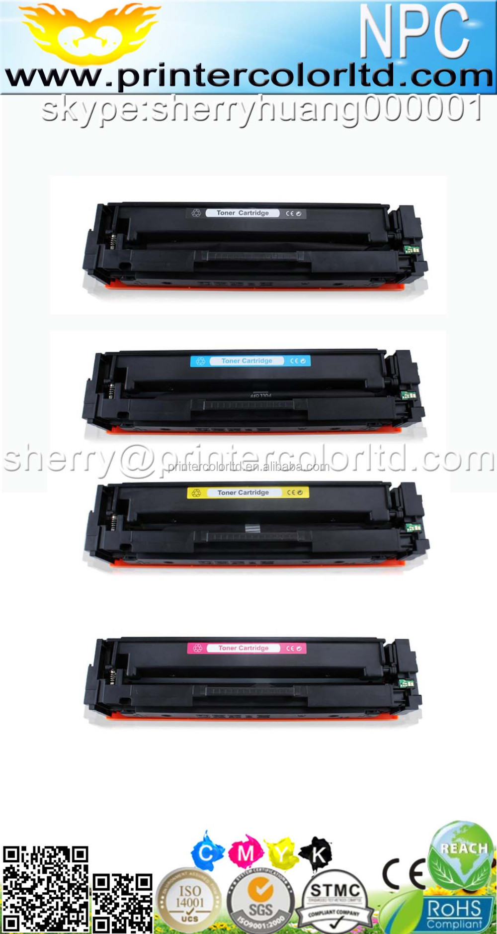 CF400A CF401A CF402A CF403A toner cartridge compatible for HP Color Color LaserJet Pro MFP M277 series