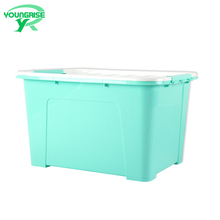 60L wholesale toy plastic boxes clothes storage box with wheels