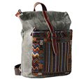 factory direct ethnic Embroidery Canvas Shoulder Hippie Bag for Unisex