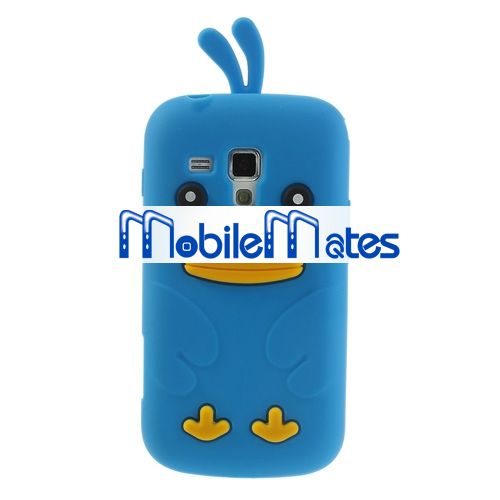 China Alibaba Supplier Lovely 3D Duck Silicone Back Case Cover for Samsung Galaxy S Duos S7562 Cute Case