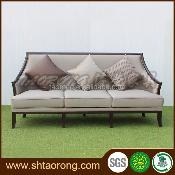 3-seater white wood fabric sofa design for living room