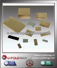 Small and huge blcok NdFeB magnet with zinc, gold and epoxy coating