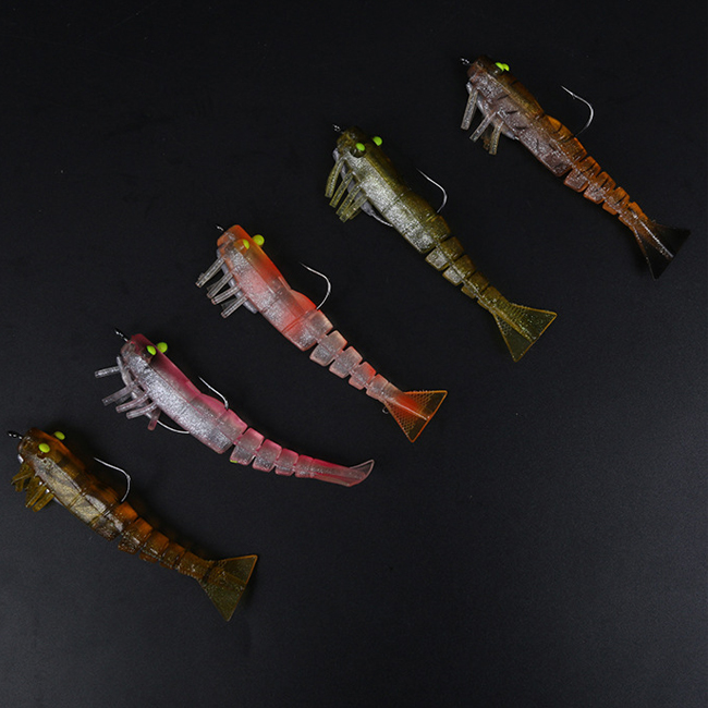 Cheap popular artificial luminous soft shrimp lure